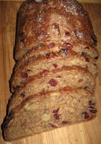 Walnut & Cranberry Whole Grain Rye Bread